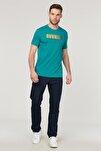 Mavi Pamuklu  Erkek T-Shirt FS-1681