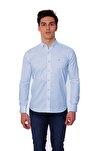 Uzun Kollu Kolu Katlanabilir Erkek Gömlek A.Mavi/L.Blue 1812077
