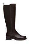 Hakiki Deri Kahverengi Kadın Çizme Çizme 94 6429 C BN CZM
