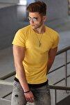 Basic Sarı Erkek Tişört 4465