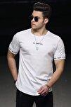 Beyaz Erkek Tişört 4461