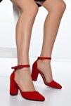 Kırmızı-Süet Kadın Ayakkabı DXTRSKRNYRKY002