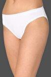 Kadın Beyaz 6'Lı Paket Pamuklu Su Yolu Bikini Külot