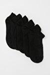 5'li Siyah Spor Örme Çorap TWOAW20CO0011