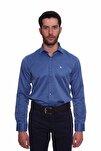 Uzun Kollu Erkek Gömlek Koyu Mavi 1912021