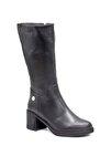 Hakiki Deri Siyah Kadın Çizme D19KC20300000