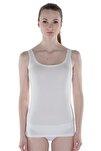 Kadın Beyaz Modal Kalın Asklı Atlet