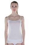 Kadın Beyaz Modal İnce Askılı Atlet