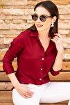 Kadın Bordo Uzun Kollu Düz Gömlek ARM-18Y001176
