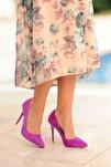 Mürdüm Nubuk Kadın Klasik Topuklu Ayakkabı A1770-17