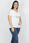 Kadın Kemik Omuz Detaylı Viskon Bluz 65N15199
