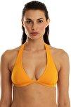 Kadın Sari Kalin Askili Üçgen Bikini Üstü