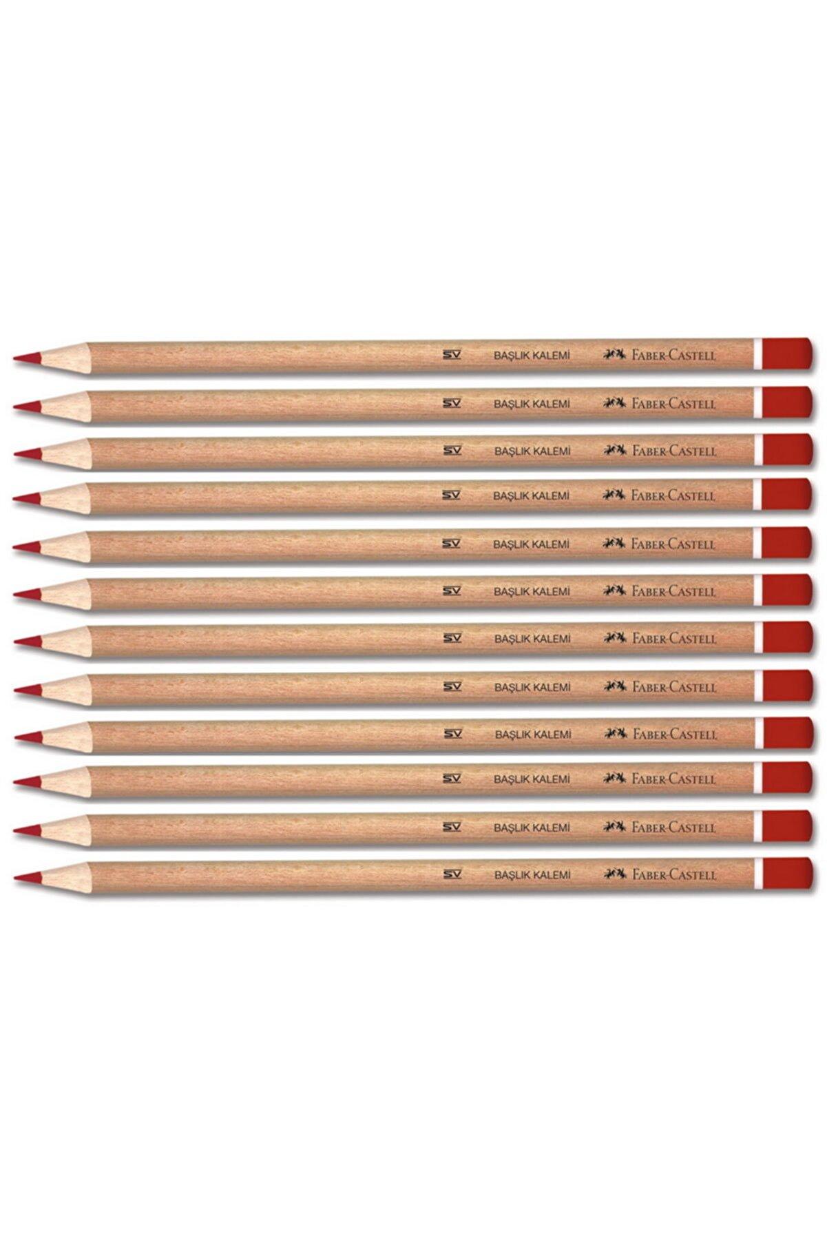 Faber-Castell Yayınları Naturel Kırmızı Renkli Kurşun Kalem 12li Paket 1132419001
