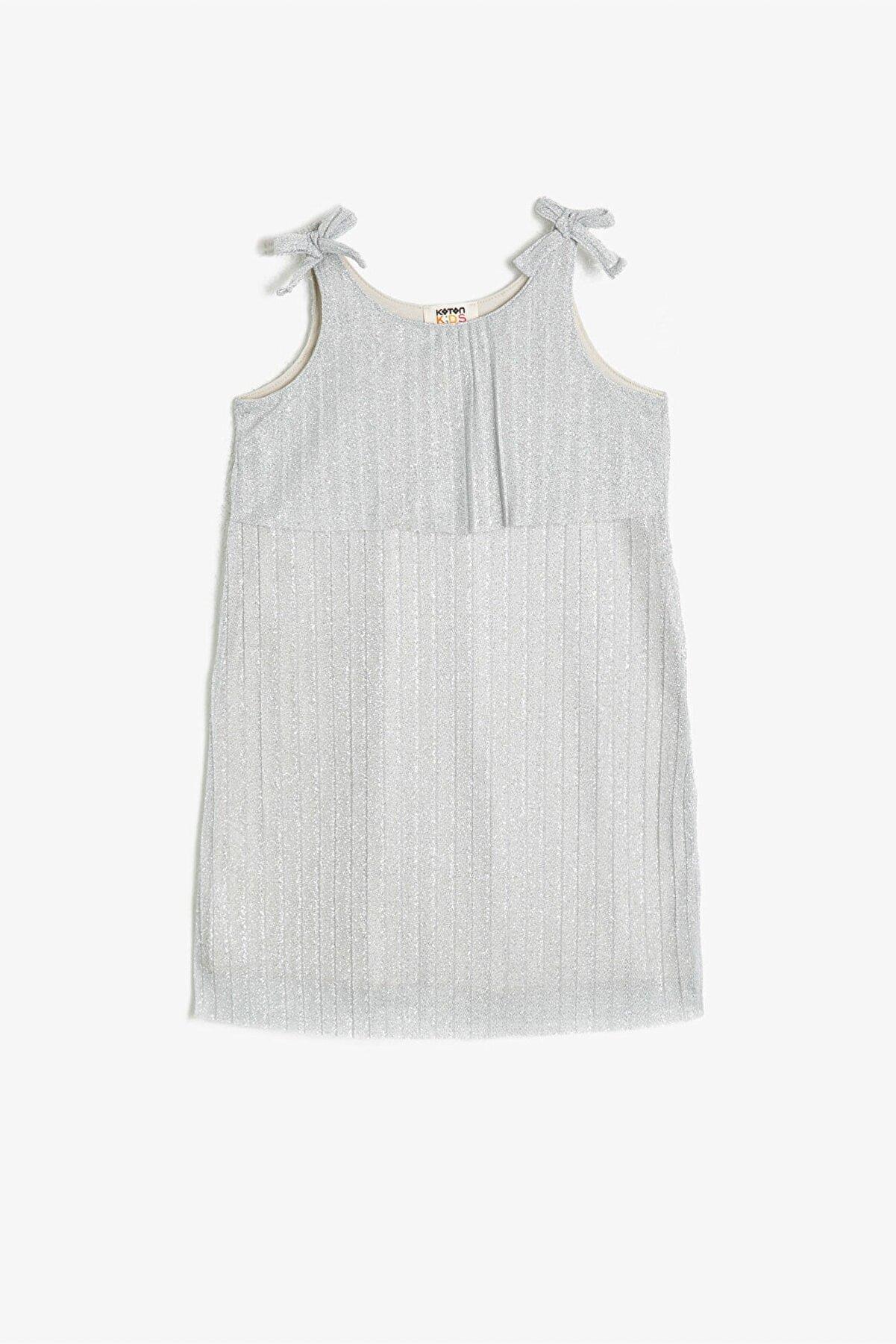 Koton Gümüş Kız Çocuk Elbise