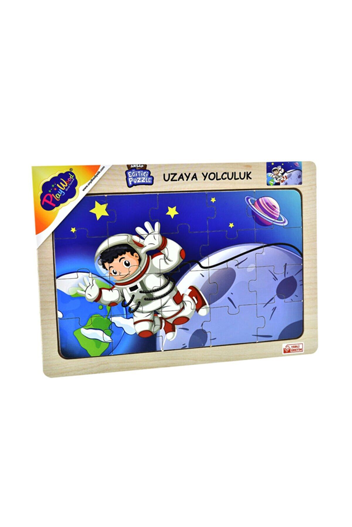 ONYIL OYUNCAK Playwood Ahşap Eğitici Puzzle Uzaya Yolculuk