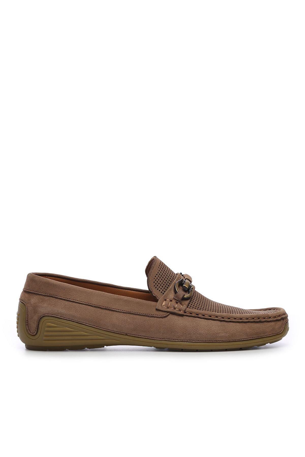 Kemal Tanca Hakiki Deri Bej Erkek Loafer Ayakkabı 374 6047 ERK AYK