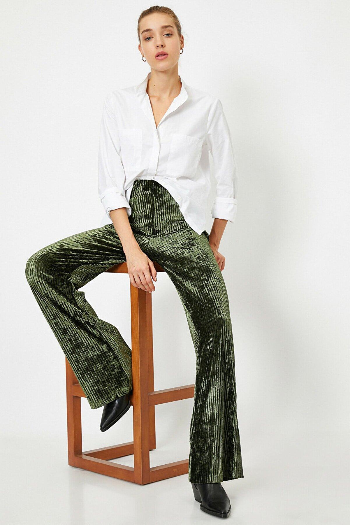 Koton Kadın Haki Jeans 1KAK43301EK