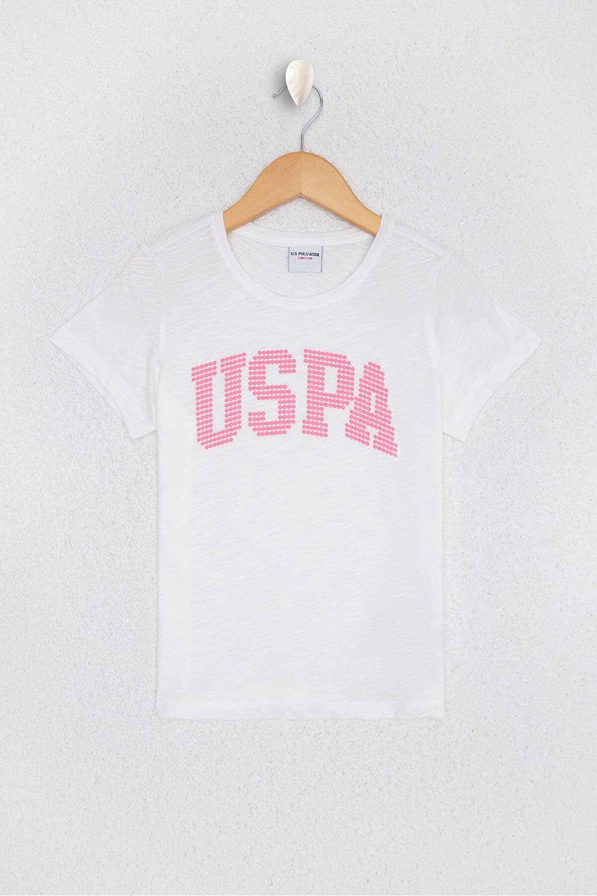 US Polo Assn Kız Çocuk Beyaz  T-Shirt