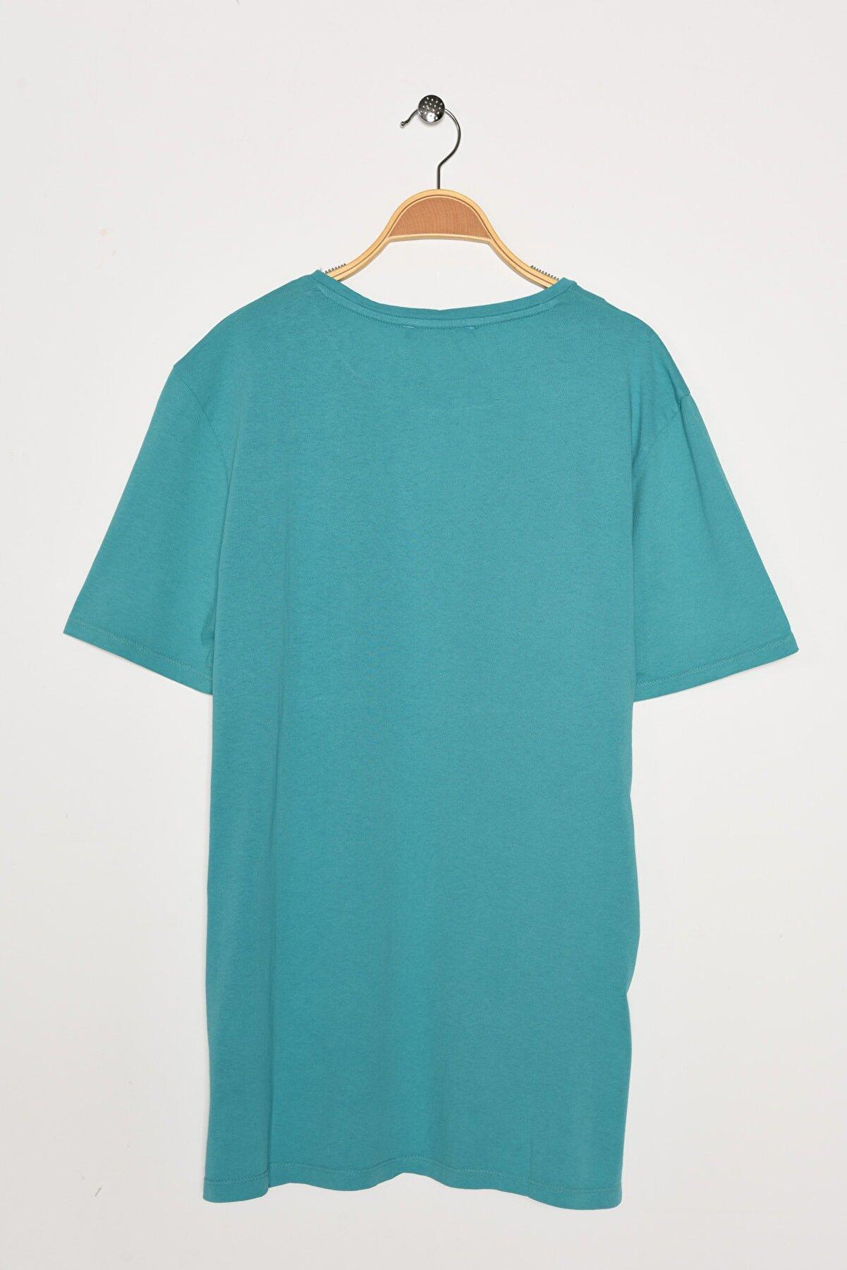 Koton Erkek Mavi T-Shirt 0YAM11434LK
