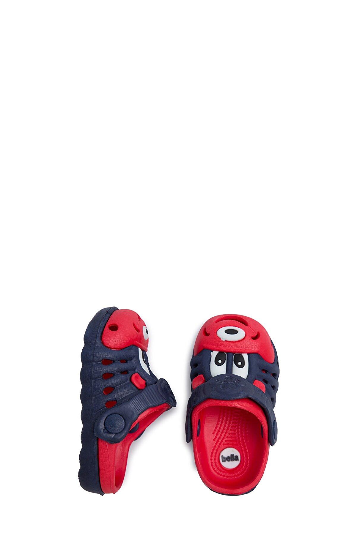 Akınalbella Unisex Lacivert Kırmızı Sandalet