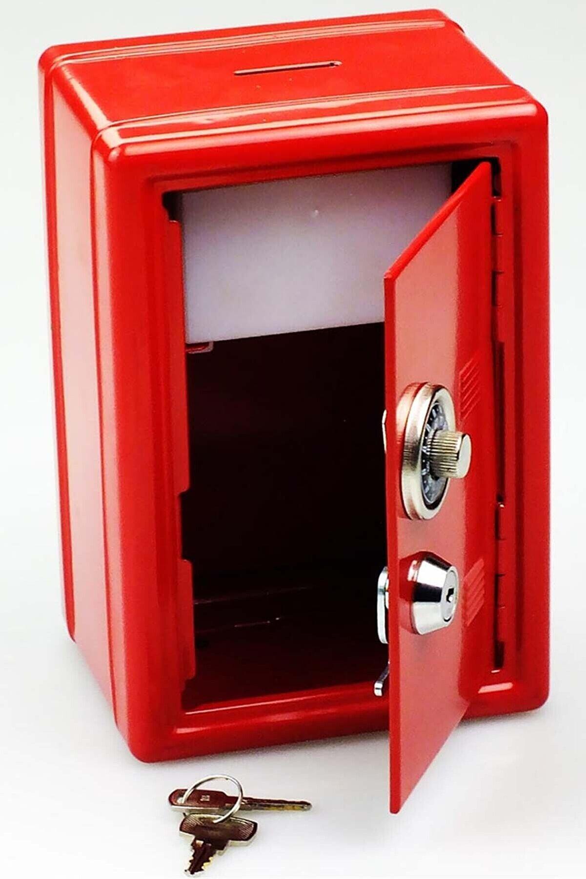 Mobee Kilitli Kasa Kumbara Anahtarlı Mini Metal Para Kasası