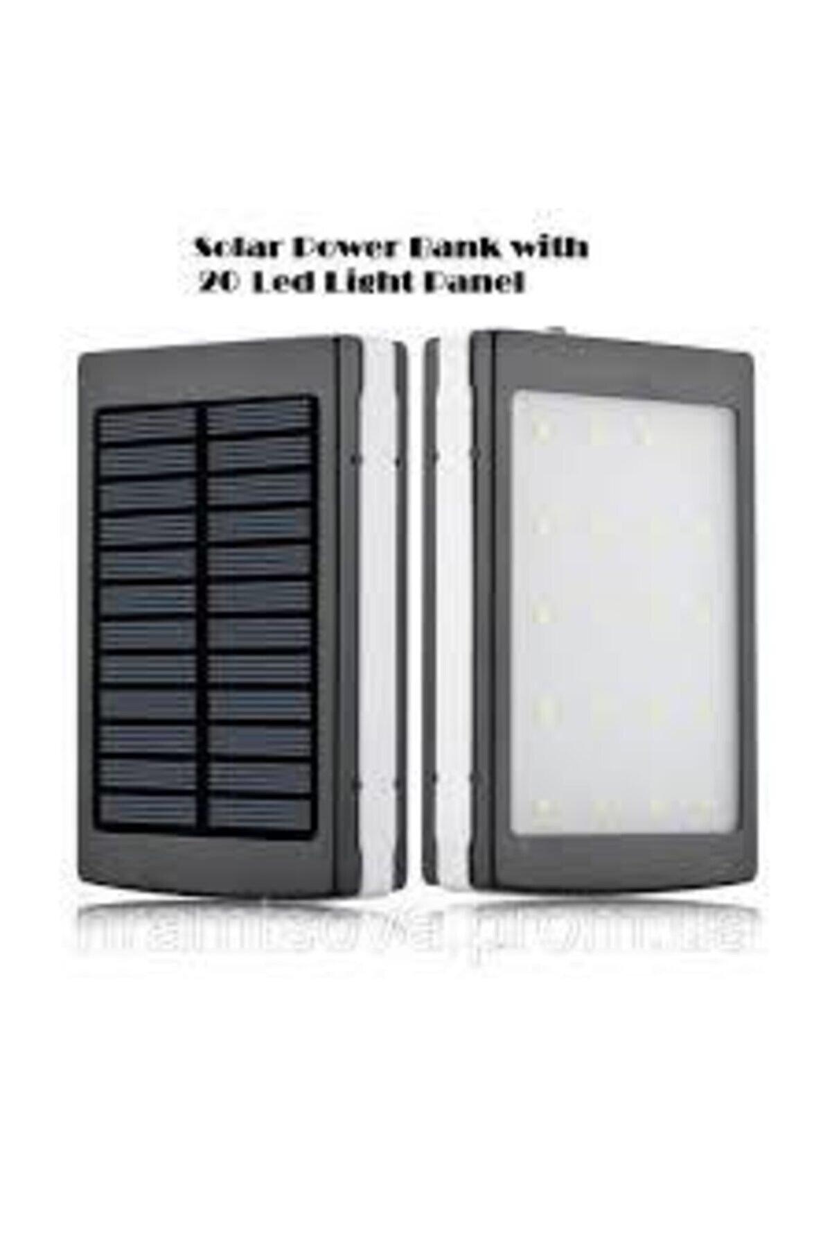 M&B 20 Power Ledli 18000 Mah Güneş Enerjili Taşınabilir Powerbank