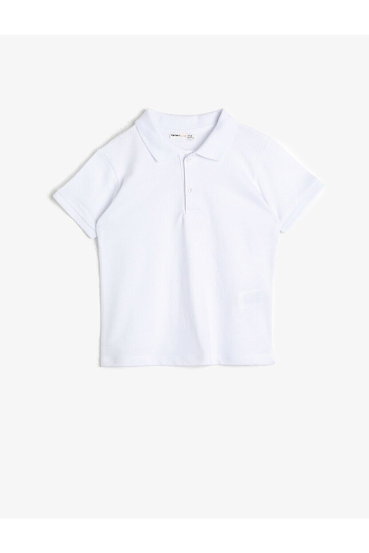 Koton Erkek Çocuk Basic Pamuklu Kol Ucu Triko Detayli Polo Pike Tisört
