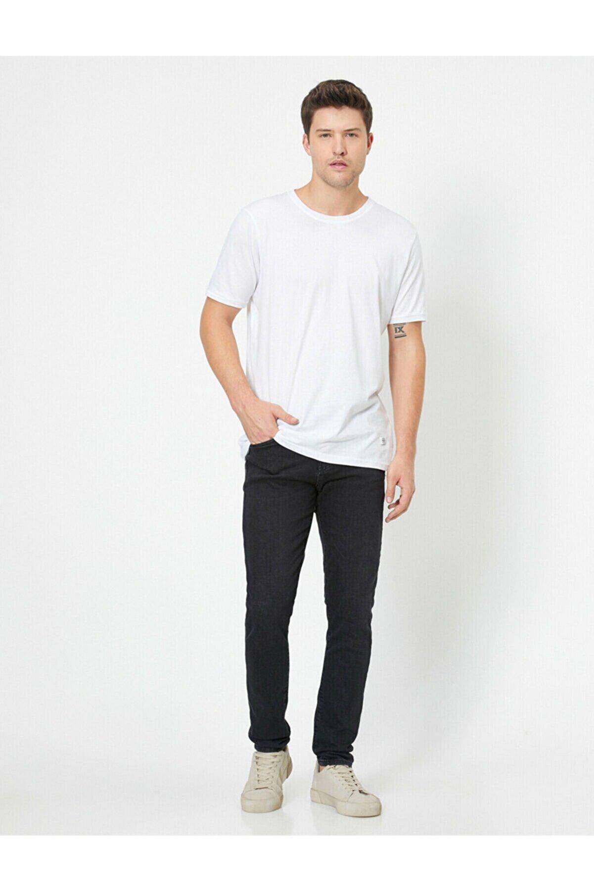 Koton Erkek Gri Jeans 0YAM43858LD