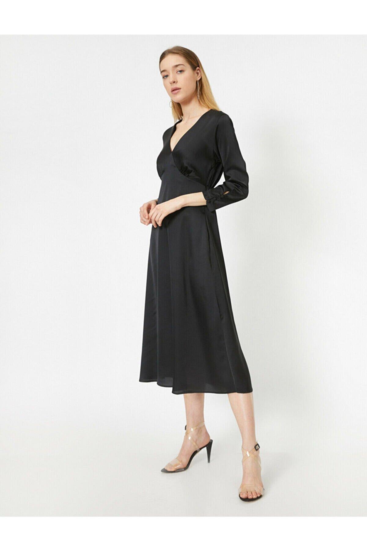 Koton Kadın Siyah Abiye & Mezuniyet Elbisesi