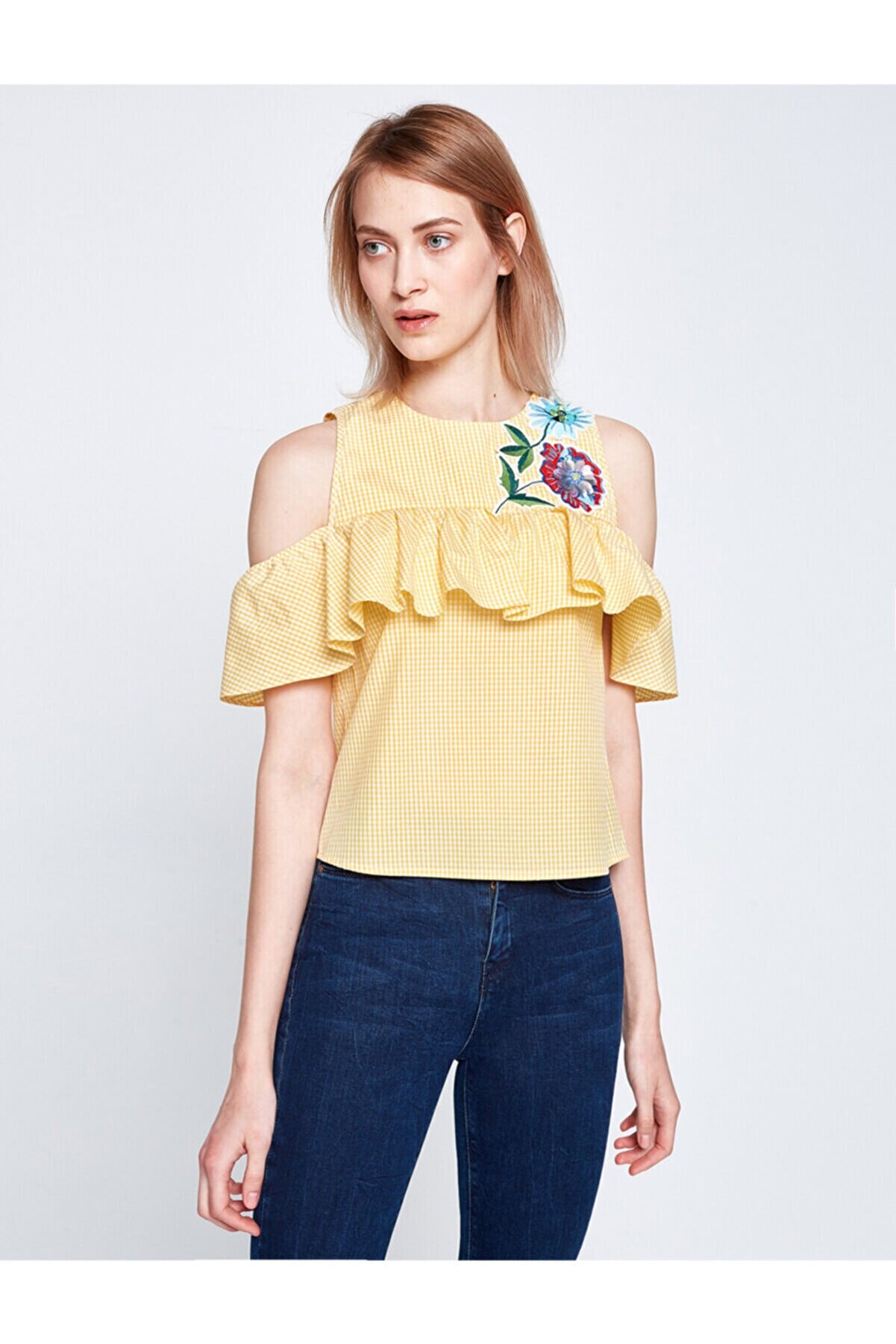 Koton Kadın  Nakis Detayli Bluz