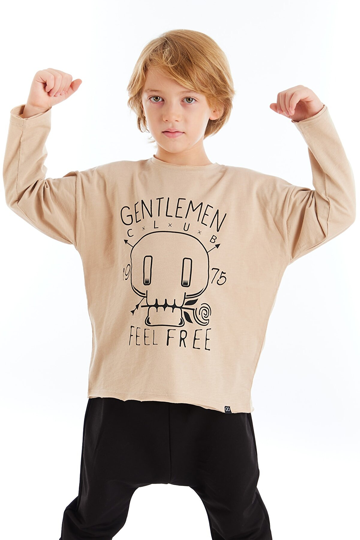 Colorinas Unisex Çocuk Taş Rengi Sweatshirt