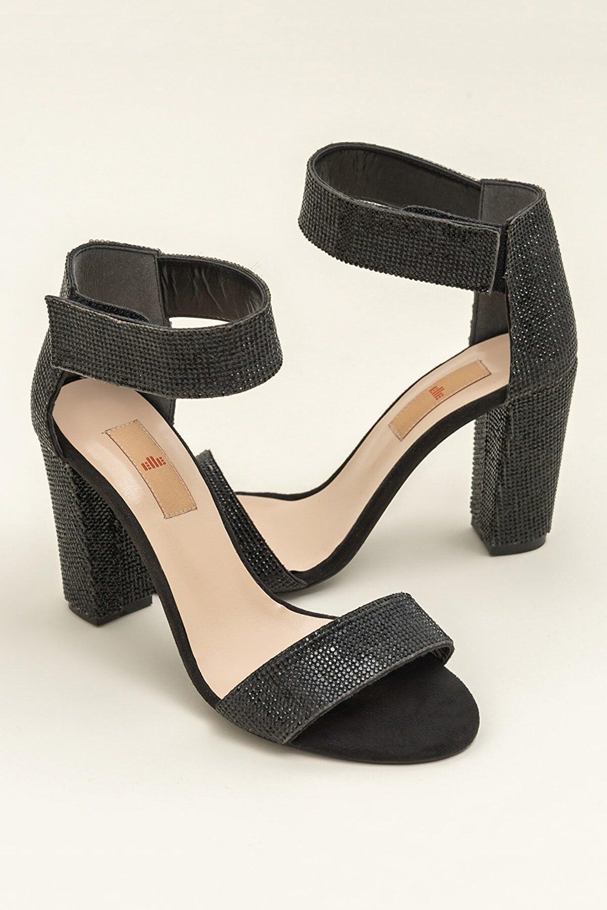 Elle WINNIE Siyah Kadın Sandalet
