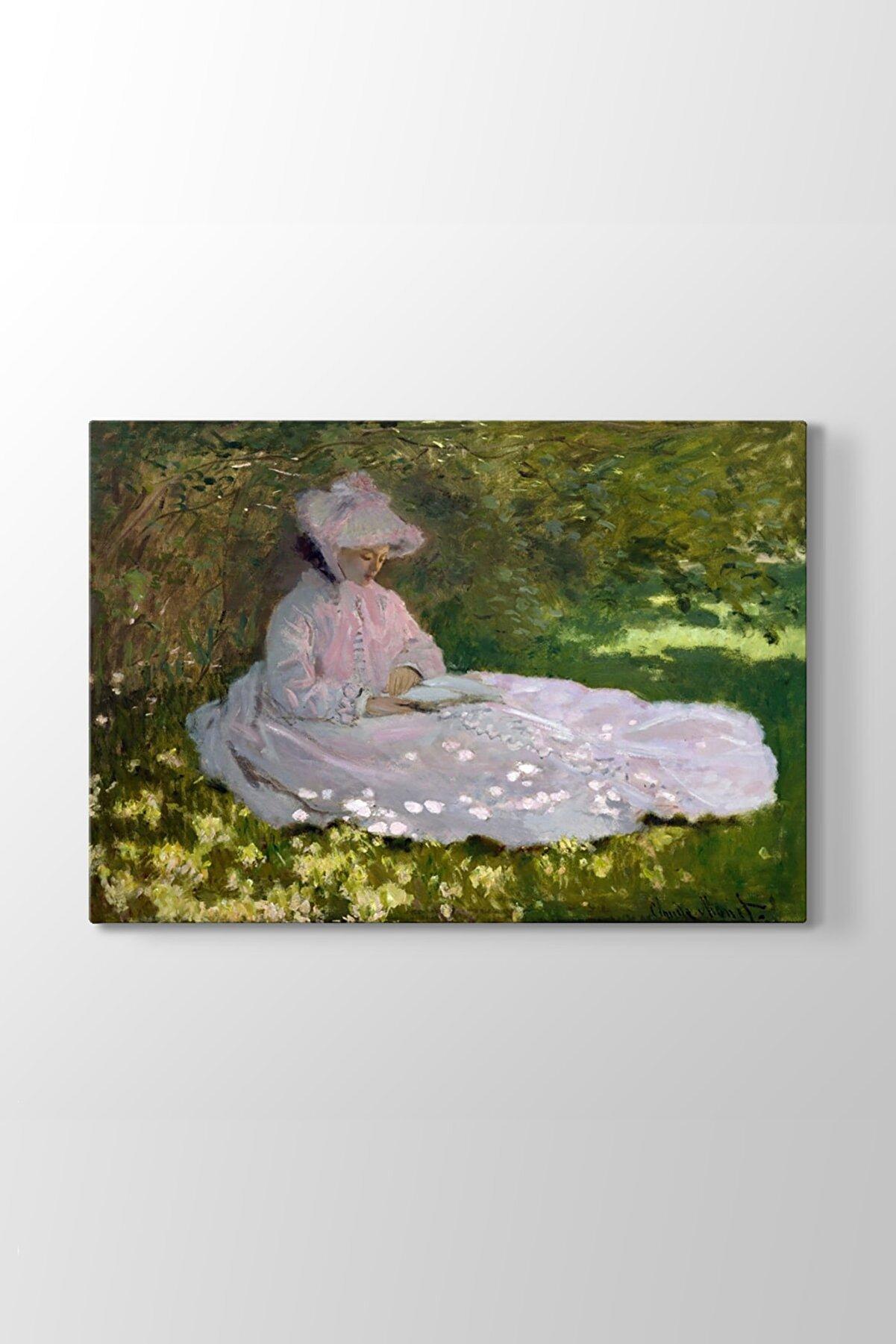 TabloShop Claude Monet - Springtime Tablosu (Model 1) - (ÖLÇÜSÜ 45x30 cm)