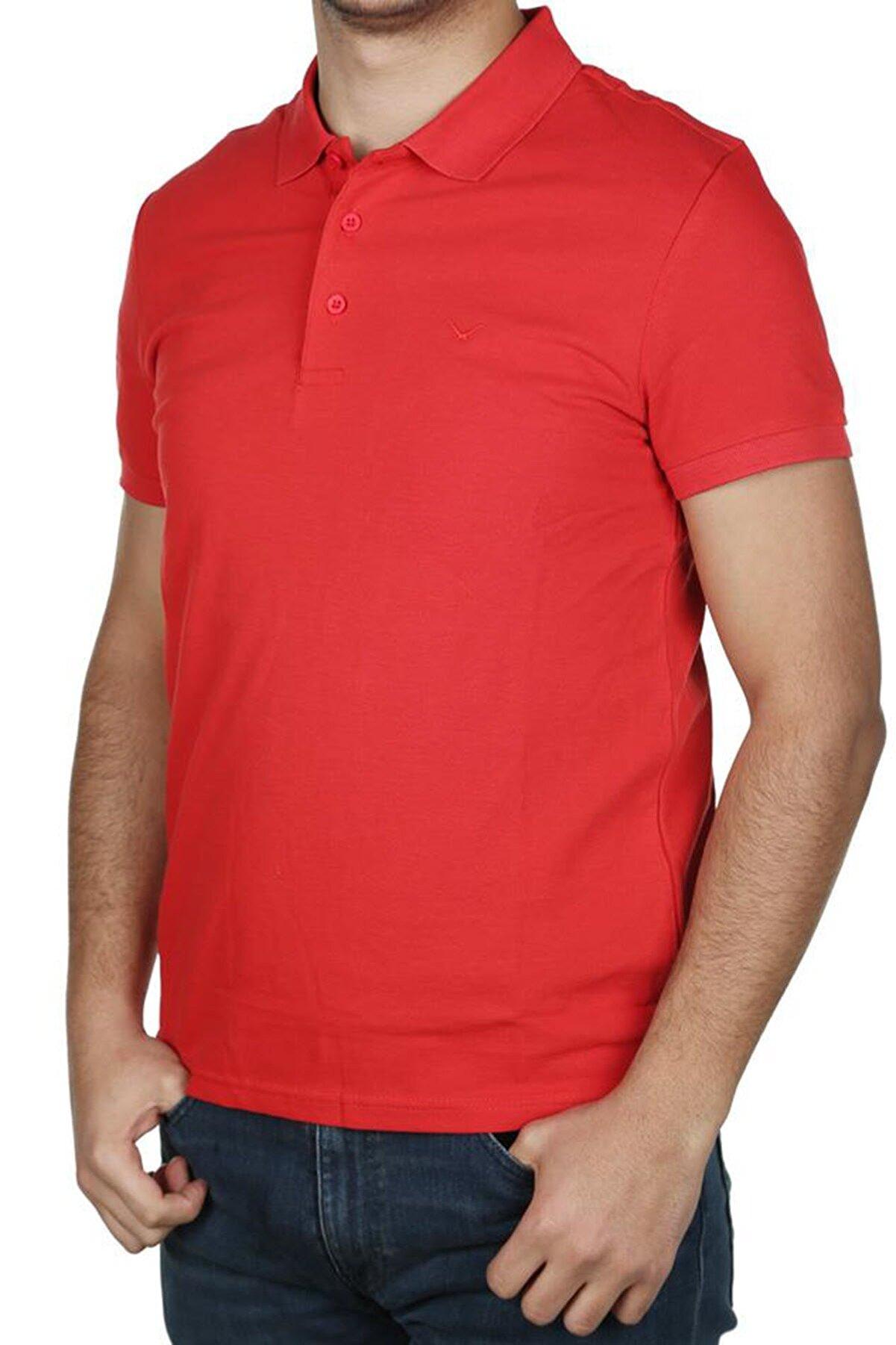 Cazador Erkek Kırmızı Polo Yaka T Shirt 4613