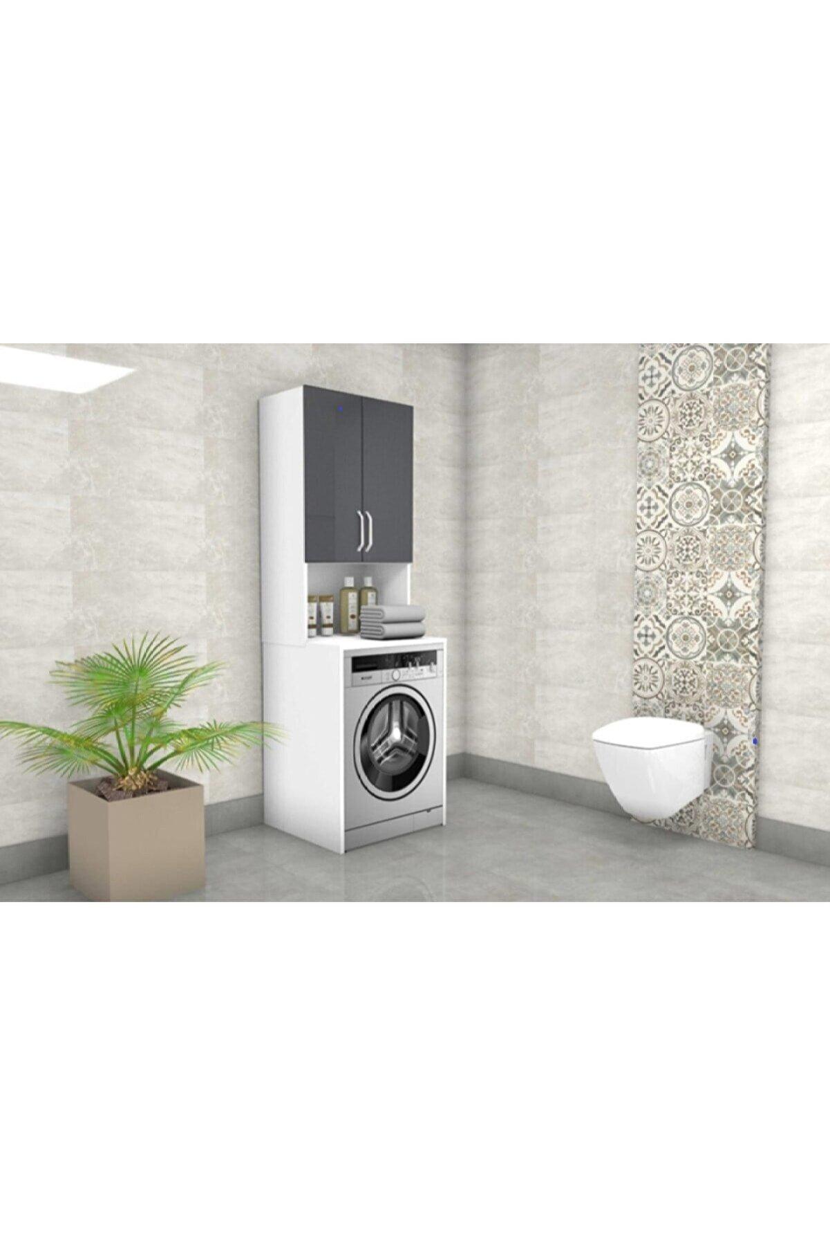 DM MOBİLYA Çamaşır Makinesi Dolabı(Banyo Dolabı)