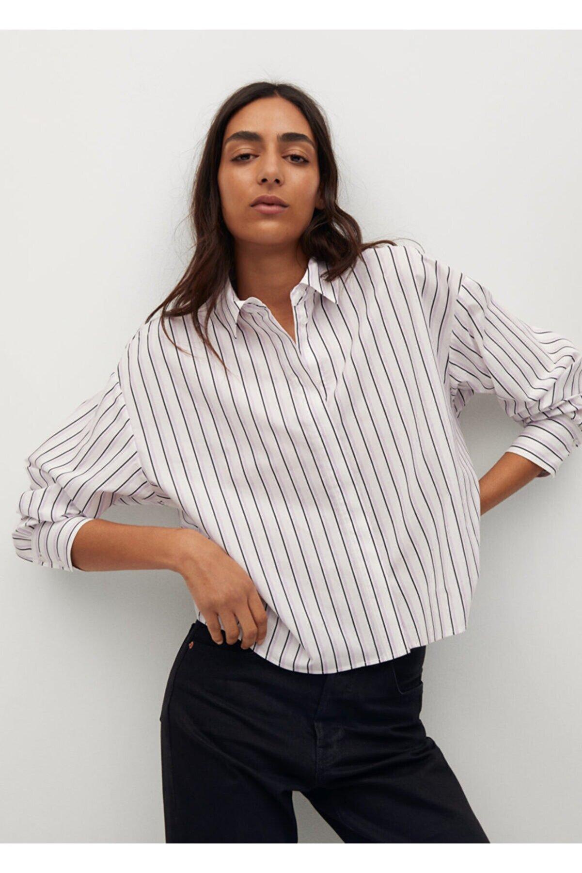 Mango Kısa Koton Gömlek
