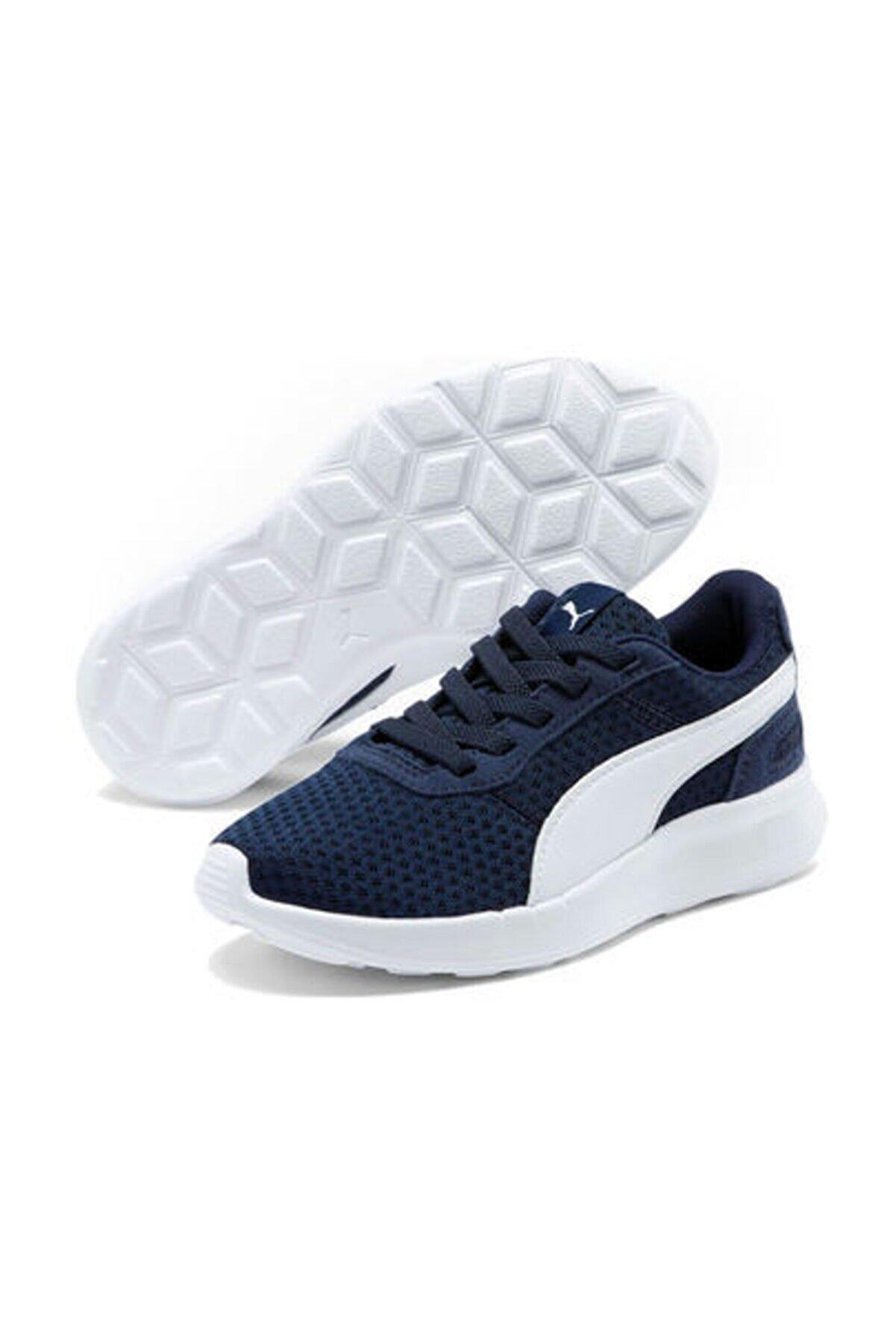 Puma Unisex Çocuk Sneaker ST Activate AC PS Peacoat-Puma White