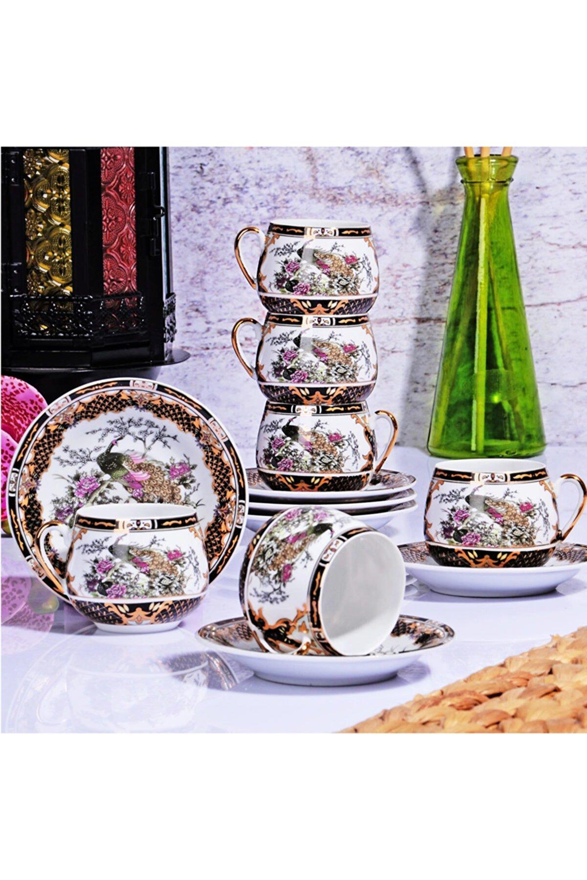 Kitchen World Porselen 6lı Tombul Fincan Takımı Gsa-51
