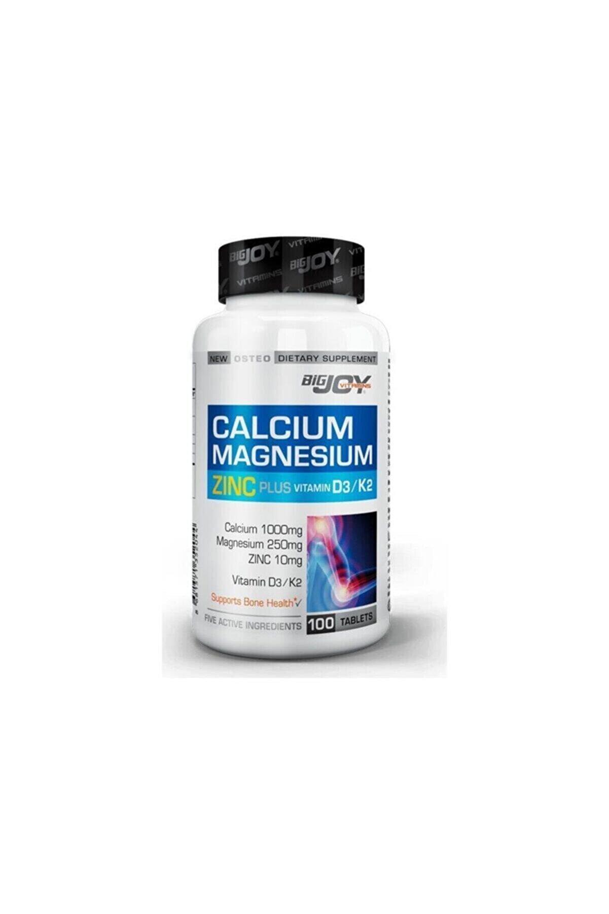 Bigjoy Sports Bigjoy Vitamins Calcium Magnesium Zinc Plus 100 Tablet