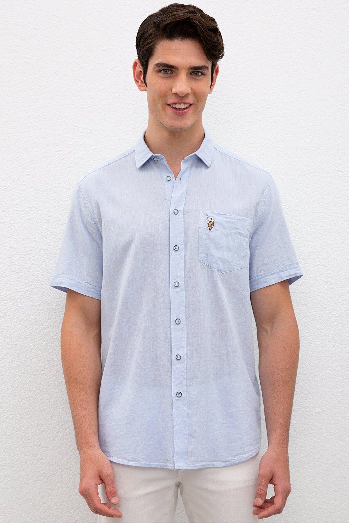 US Polo Assn Mavi Erkek Gömlek