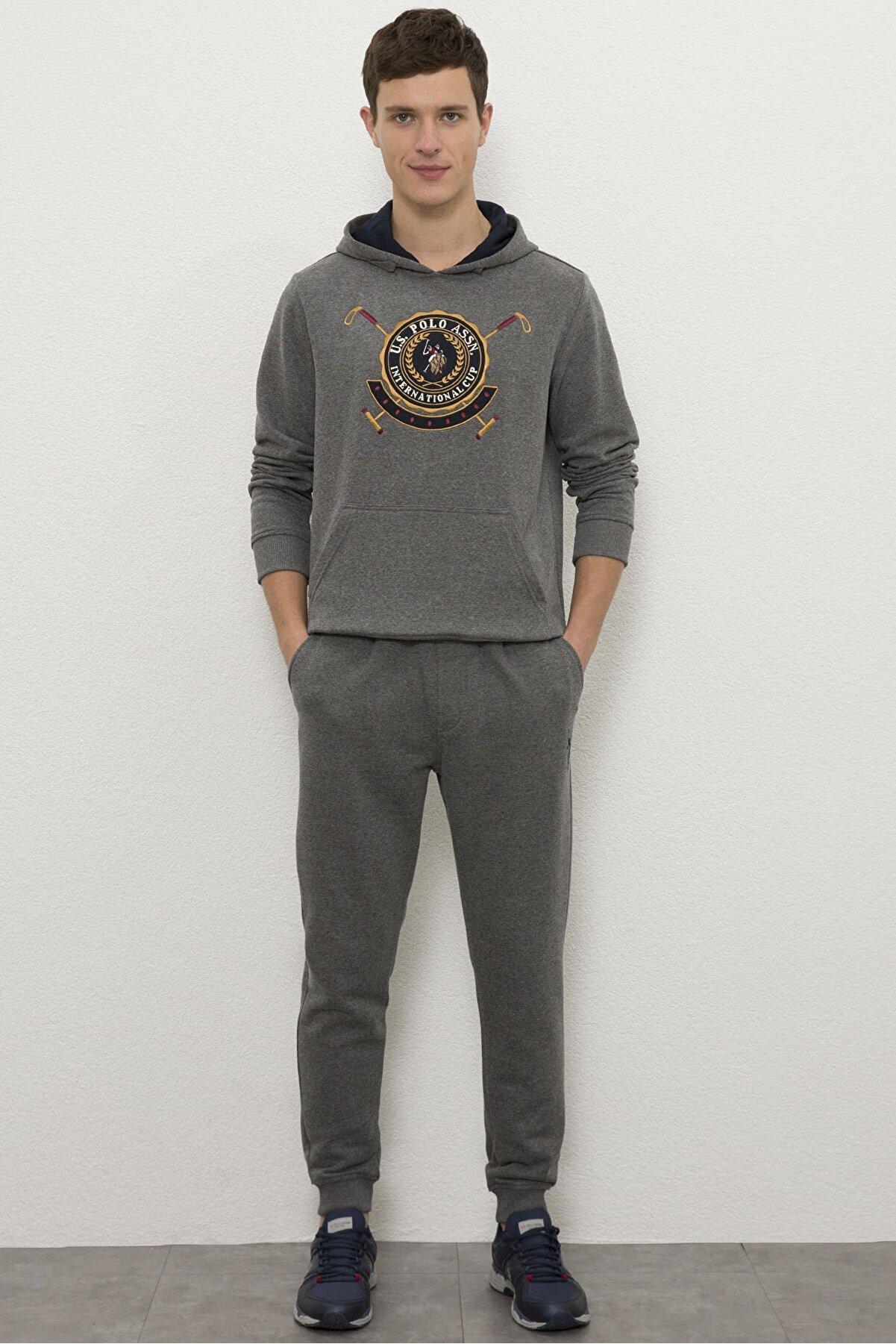 US Polo Assn Grı Erkek Örme Pantolon