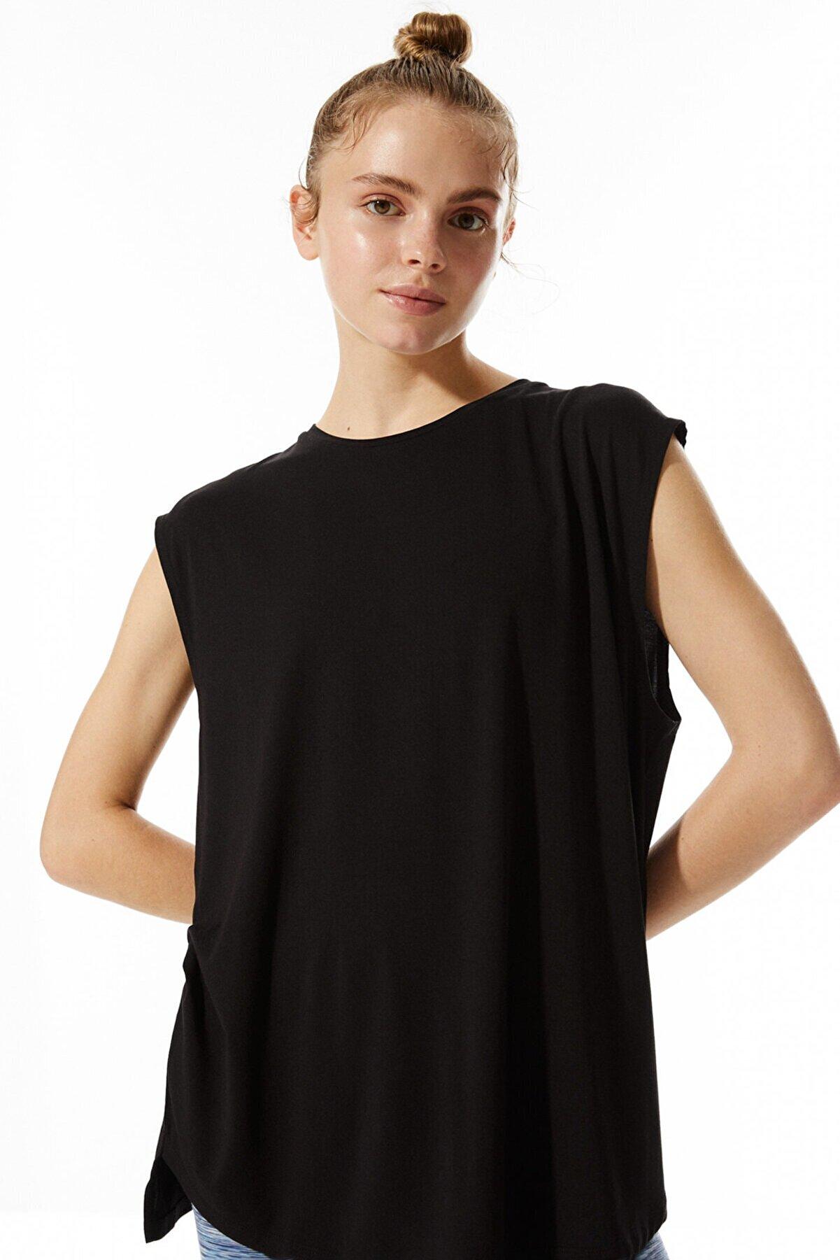 Stradivarius Kadın Cupro T-shirt