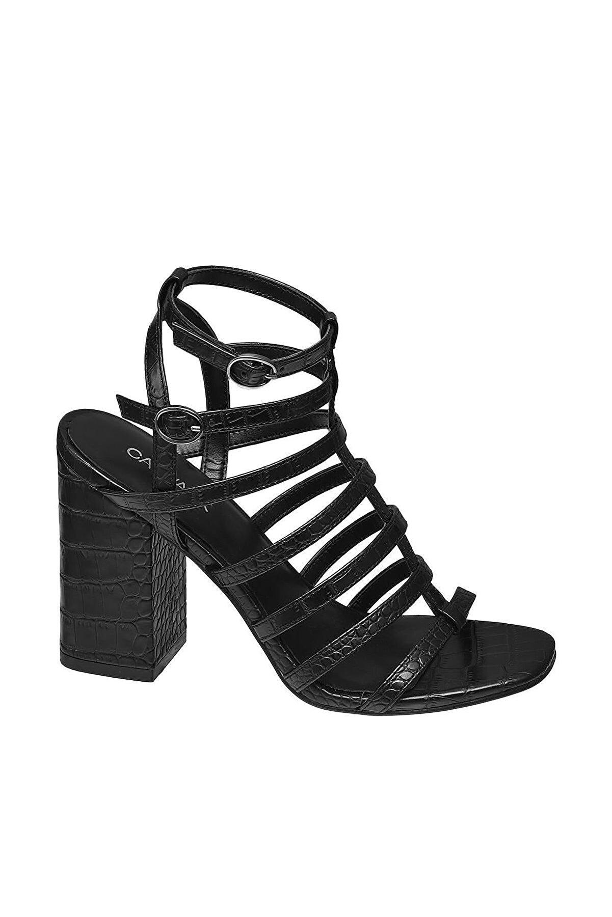 Catwalk Deichmann Siyah Topuklu Sandalet