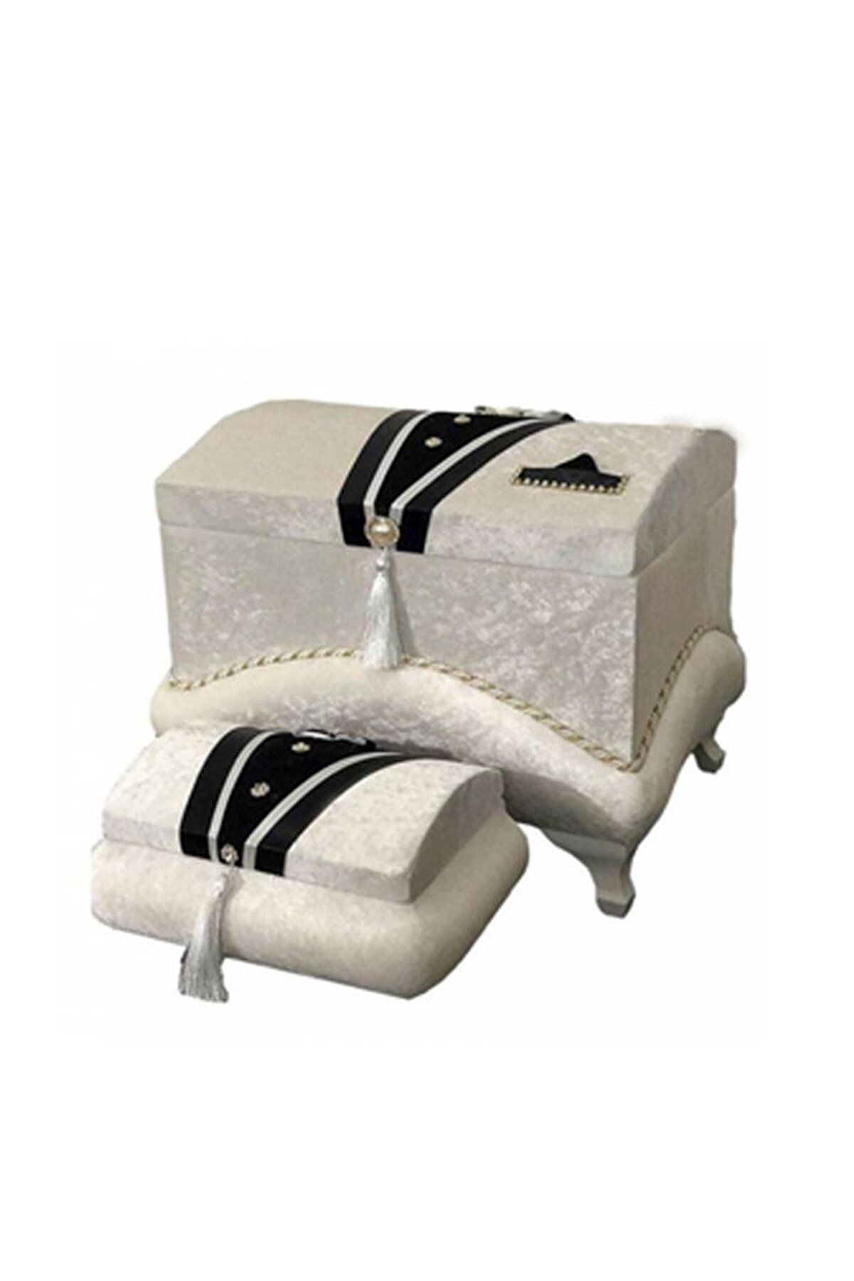 Çt Çeyizci Tekstil Çeyiz Sandığı Yaka Cepli Damat Model - Krem