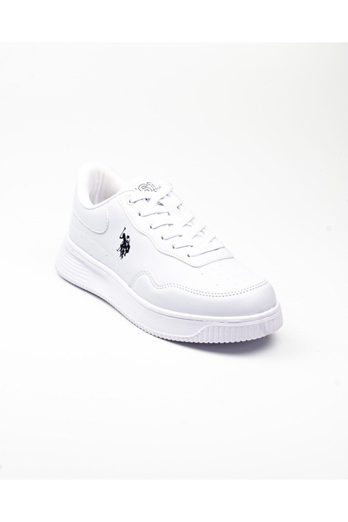 US Polo Assn Kadın Beyaz Sneaker -40 100909442