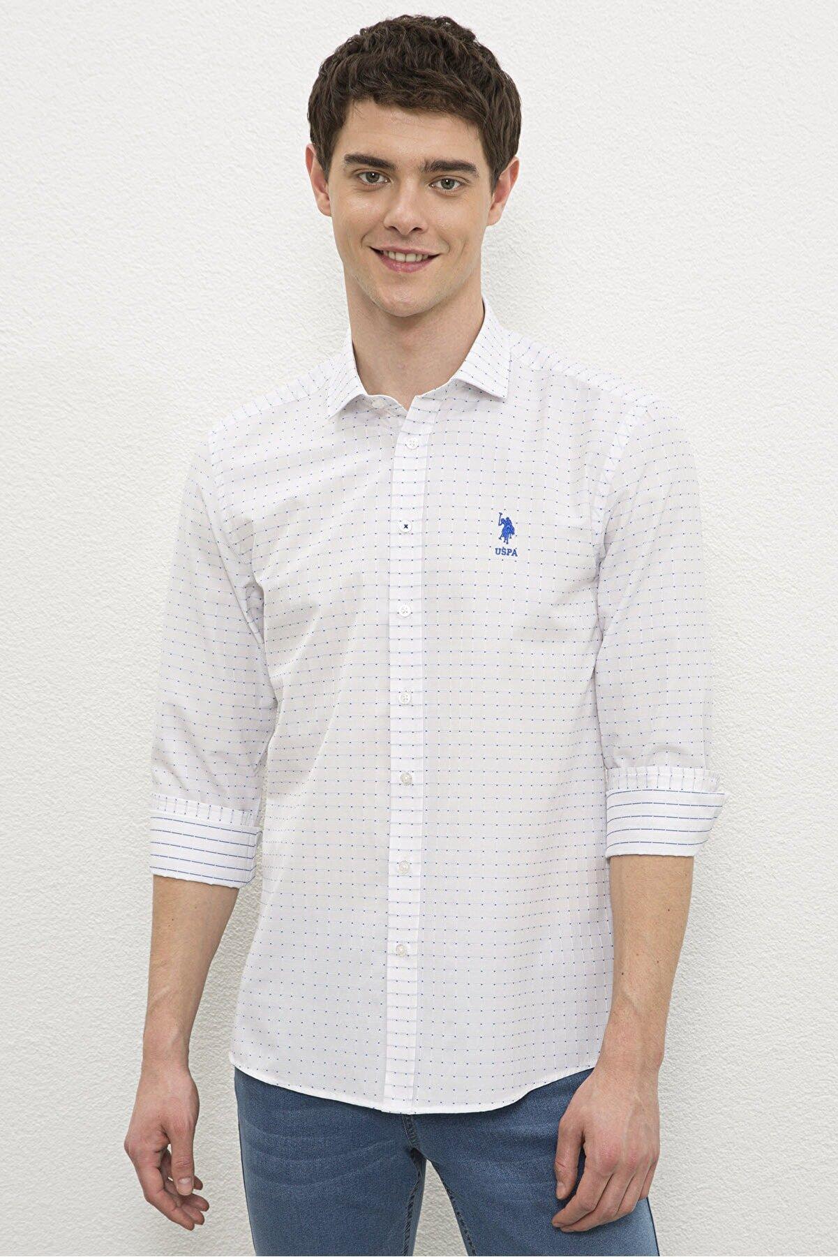US Polo Assn Beyaz Erkek Gömlek G081Sz004.000.1180207