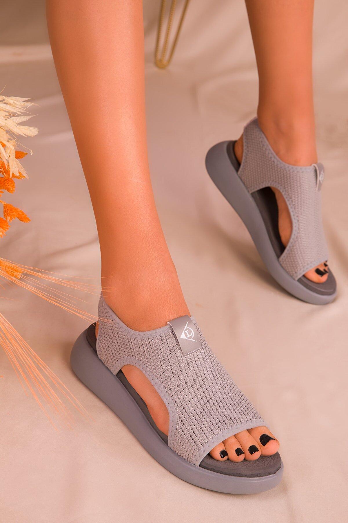 Soho Exclusive Gri Kadın Sandalet 16136