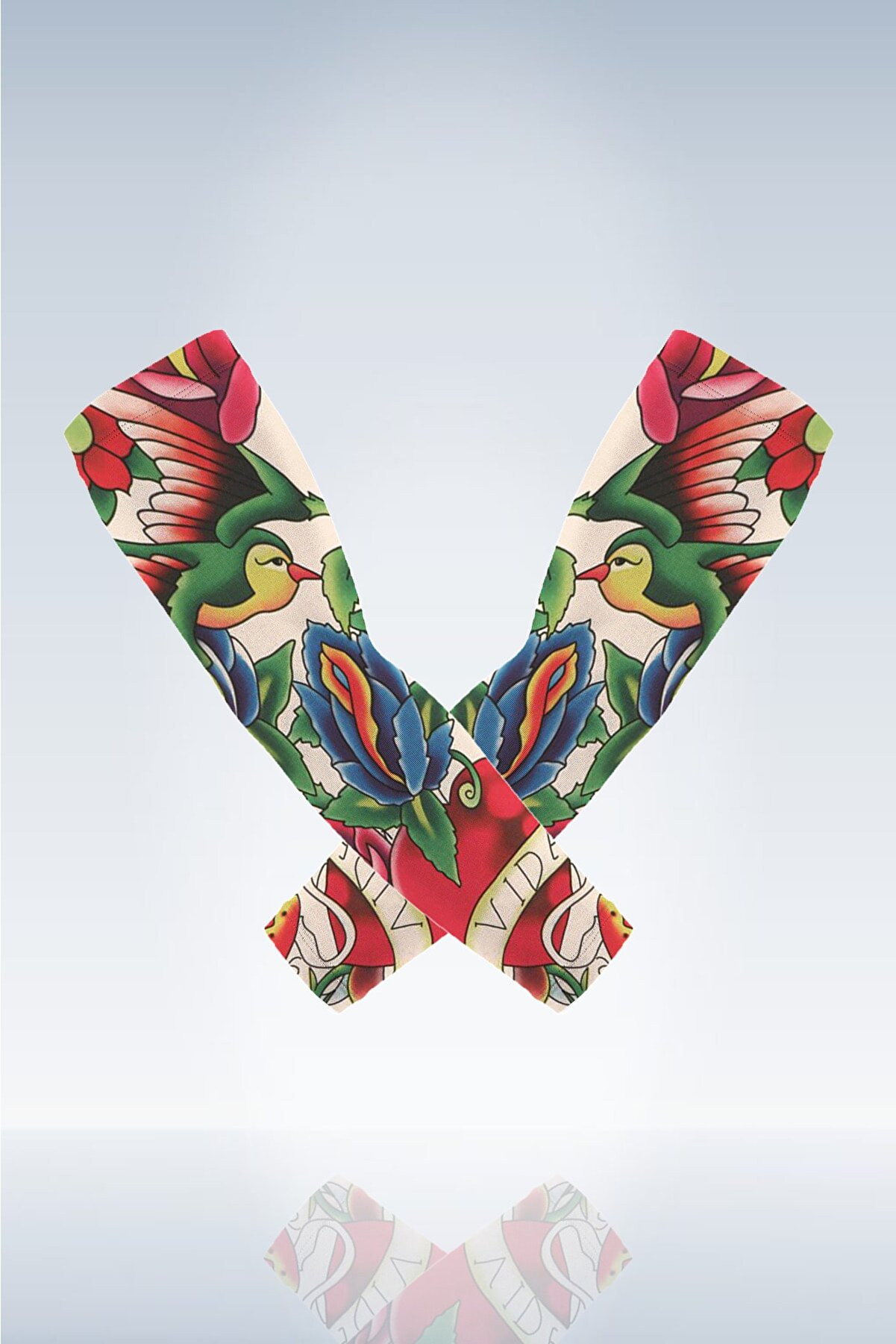 BP Tattoo Martin Giyilebilir Dövme Çorap Tattoo (2'li Set)