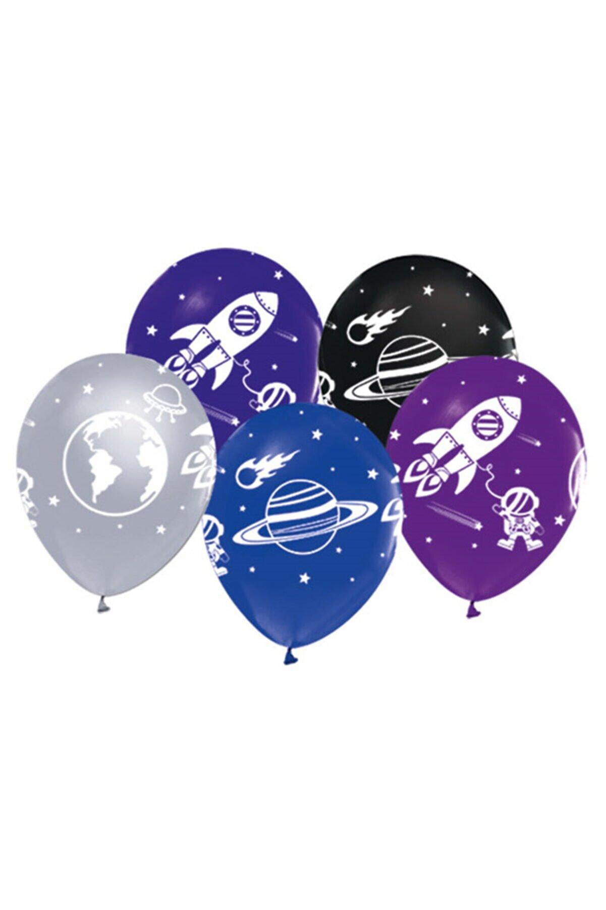 BalonEvi Kozmik Galaksi Uzay Temalı Baskılı Balon 10 Adet