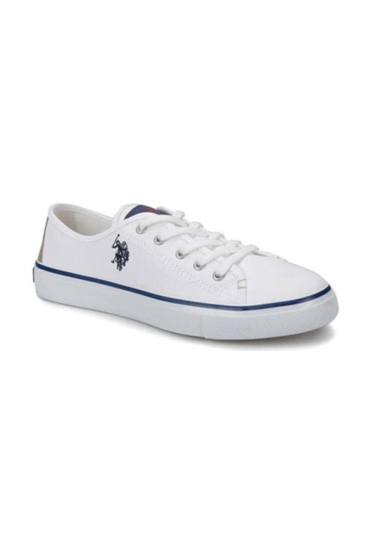 US Polo Assn Toga 1 Fx Beyaz Bağcıklı Kadın Sneaker